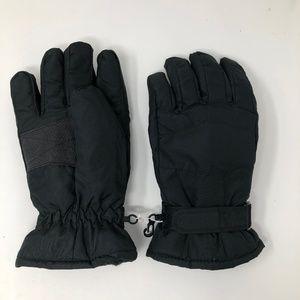 Other - Black Thinsulate Ski Snow Gloves Mens Size L NWOT